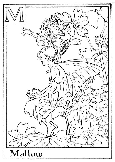 fairy letter m coloring pages crafts stencils and