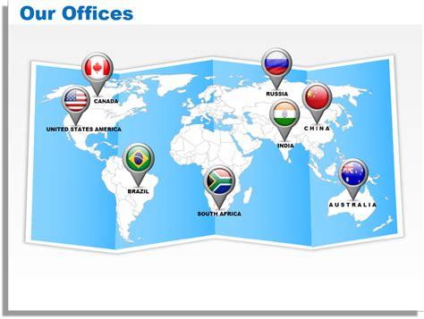 world map for powerpoint presentation 3d world map editable