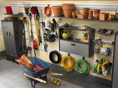 gladiator garage organization geartrack hanging wall system contemporary garage and
