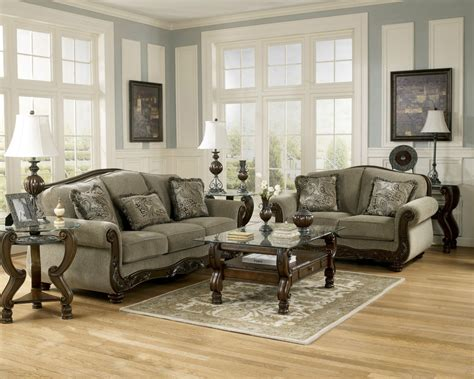 living room set furniture ashley furniture martinsburg meadow living room set sofa