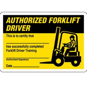 certification cards authorized forklift driver seton