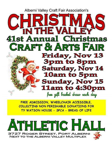 christmas in the valley craft fair port alberni