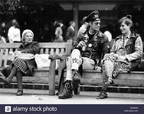 the bench birmingham two punk rockers sitting on a bench in birmingham seated