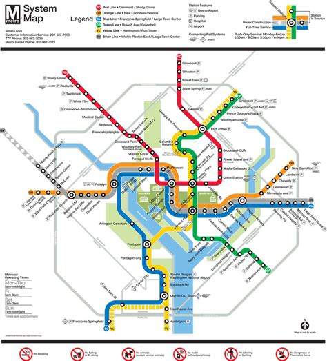 washington dc subway map dc metro map metro map