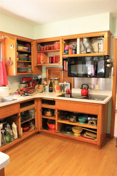 Kitchen Cabinets Without Doors Refinishing 1960s Plywood Kitchen Cabinets Retroranchrev S
