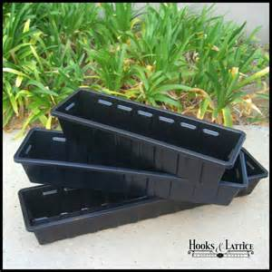 black planter liners standard plastic liners
