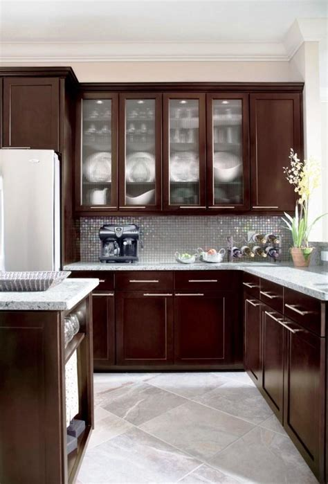 cool espresso kitchen cabinets espresso kitchen cabinets in 12 sleek and cool designs
