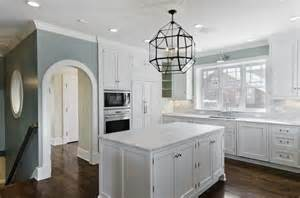 light blue kitchen walls morris pendant transitional kitchen cameo homes