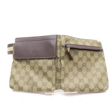 gucci monogram khaki olive fanny pack waist pouch