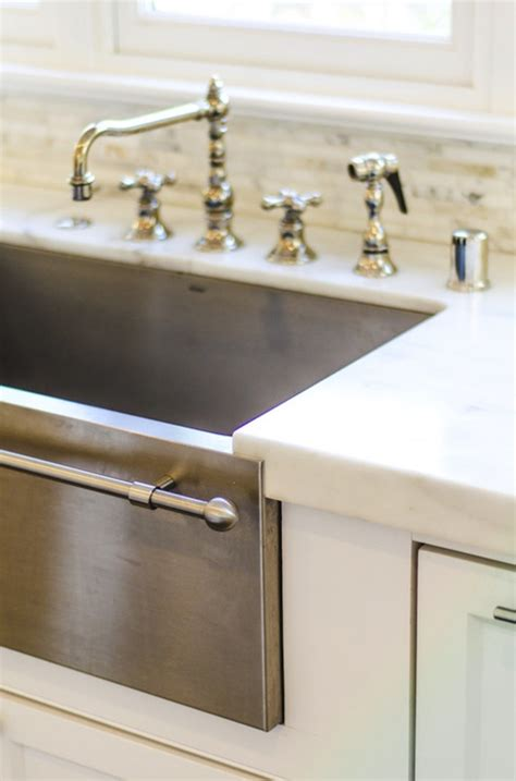 stainless steel apron sink with towel bar stainless steel apron sink design ideas
