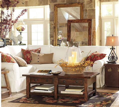 pottery barn living room pictures tips for adding warmth to your fall decor as it gets