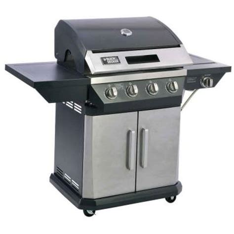 black decker 4 burner propane gas grill with side burner