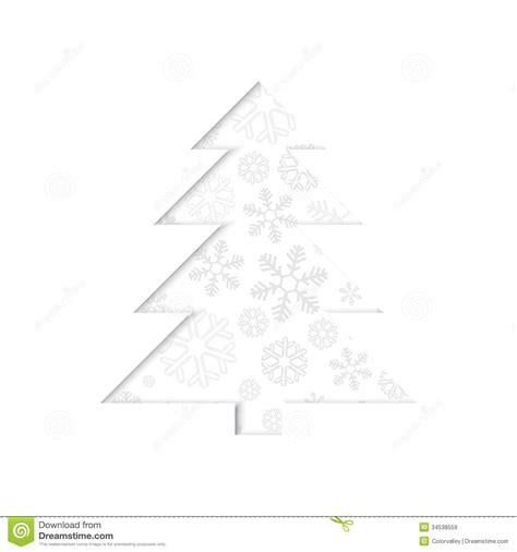 stilisierter retro weihnachtsbaum mit schneeflocke