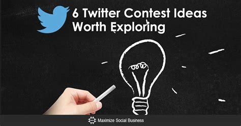 Twitter Giveaway Ideas - these 6 twitter social media contest ideas will bring you success