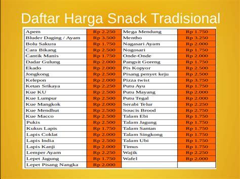 Harga Snacks aulia daftar harga snack tradisional