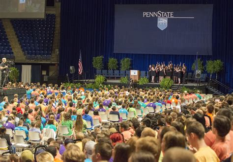 younger audience with educational event penn state university the 2014 president s new student convocation welcomes penn