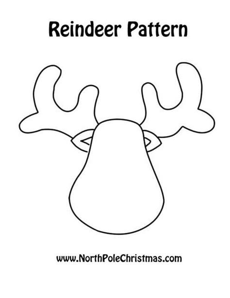 reindeer template printable reindeer pattern printable reindeer at