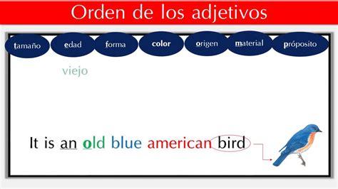 imagenes de ordenes en ingles curso de ingles gratis el orden de los adjetivos en