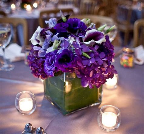 Purple Blue Green Wedding Flowers Desiree S Inspiration Blue And Purple Centerpieces For Weddings