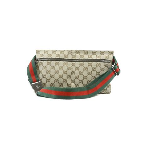 hand gucci monogram belt bag   collection