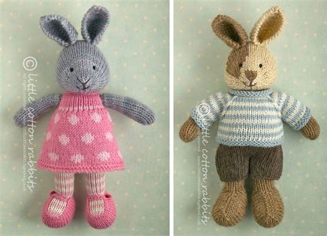 free knitting patterns for bunny rabbits cotton rabbits bunny knitting patterns