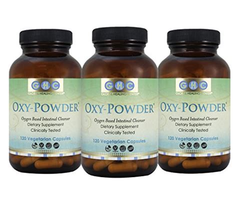 Carbon Based Detox by How About Oxy Powder 3 Pack Organic Oxygen Based Colon