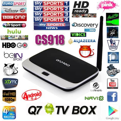 Box Android Iptv by Arabic Iptv Box Xbmc Fully Loaded Android Tv Box Cs918 Mk888 Q7 Android Smart Tv Free