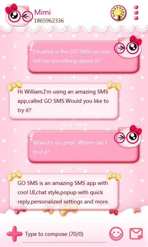 go sms background go sms pro pinkycat theme android apps on play