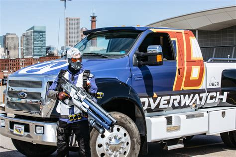 video monster truck accident pax east 2016 the overwatch monster truck got into a