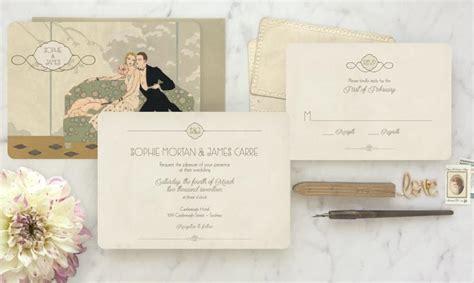 vintage style wedding invitations roaring 20s invitation 1920s invitation deco wedding