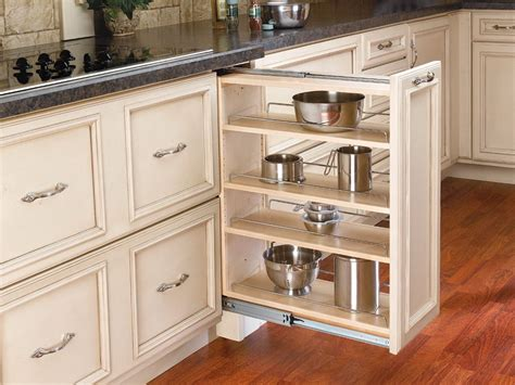 kitchen cabinets pull out slide out cabinet organizers home design ideas