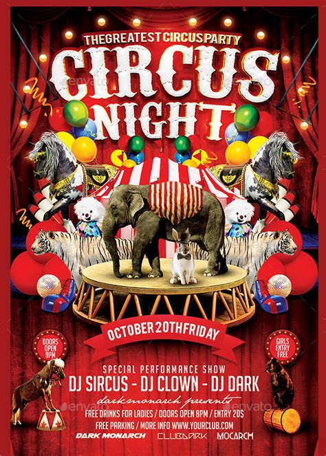 Circus Flyer Template by 23 Circus Flyer Templates Free Premium
