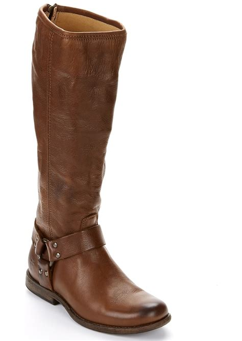 frye boots wide calf frye frye phillip harness wide calf boots shoes