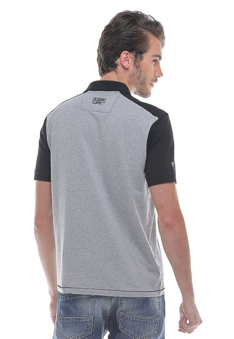 Kaos Dua Warna Abu Hitam Insight slim fit kaos polo variasi dua warna abu