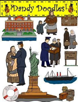 sle of immigrant card ellis island template ellis island immigration clip by dandy doodles by