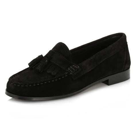 womens black loafers tower womens black suede tassel loafers casual