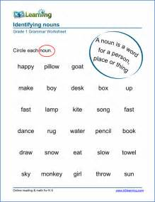 Noun worksheets for elementary school printable amp free k5 learning