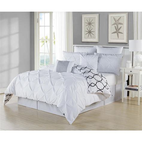 duck river comforter set duck river esy pintuck reversible white 8 piece queen