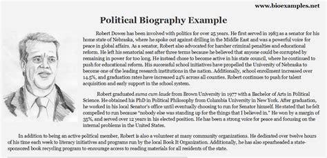 template of bio political biography exles bio exles