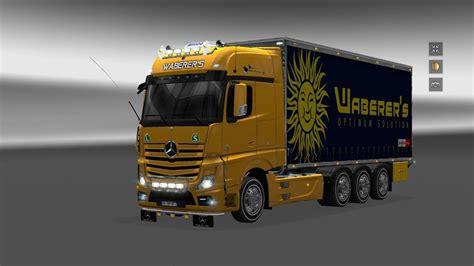 mercedes truck 2014 mercedes actros 2014 tandem v2 1 18x ets 2 mods