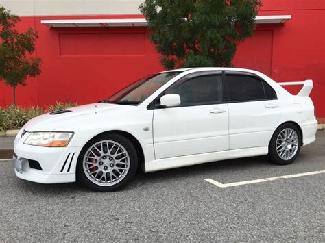 mitsubishi lancer evolution vii for sale white 2001 mitsubishi lancer evolution vii for sale mcg