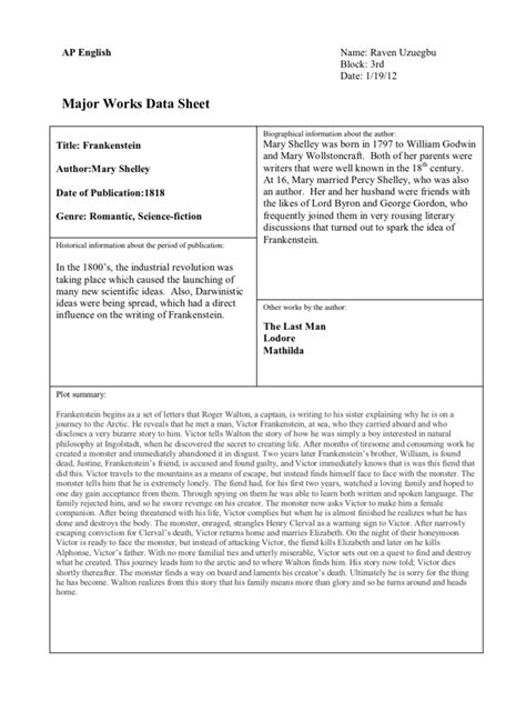 Major Works Data Sheet Template major works data sheet template 1