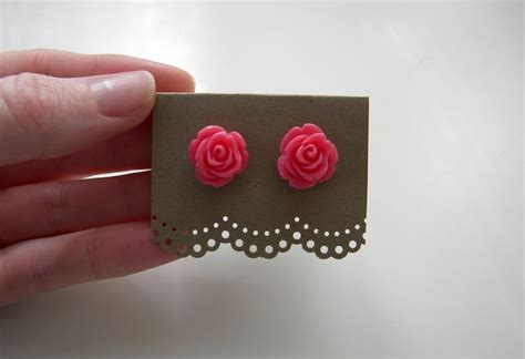 how to make earring cards diy earring cards recycled brown cardstock and doily