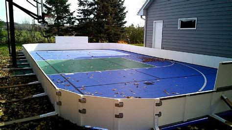 backyard roller hockey rink custom ice rinks backyard rink installations