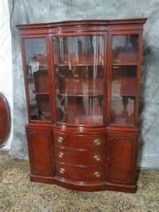 amazing antique drexel oversized bowfront china cabinet