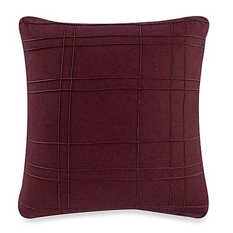 Kenneth Cole Reaction Home Pintuck Square Throw Pillow In Cranberry Bed Bath Beyond