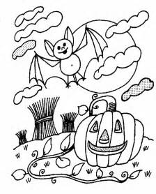 bats halloween coloring pages