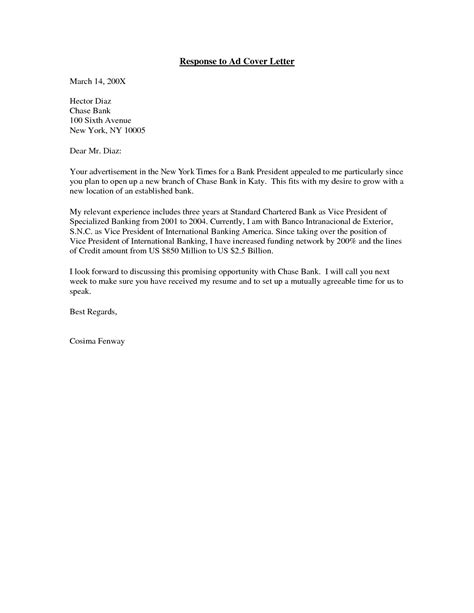 cover letter in response to posting how to write a cover letter in response posting