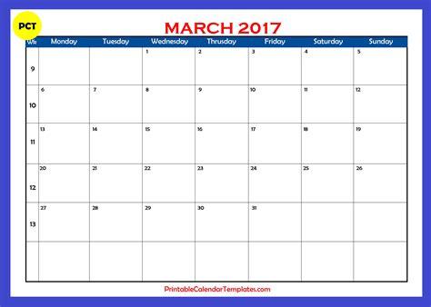 march 2017 calendar printable weekly calendar template