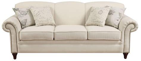Norah Antique Inspired Sofa With Nail Head Trim Sofas Nail Sofa